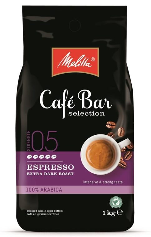 Melitta Cafe Bar Espresso Extra Dark Roast 1 кг кафе на зърна
