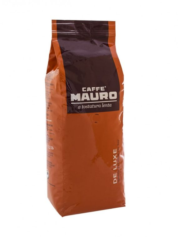 Кафе Mauro DE LUXE 1 кг - кафе на зърна с шоколадов аромат