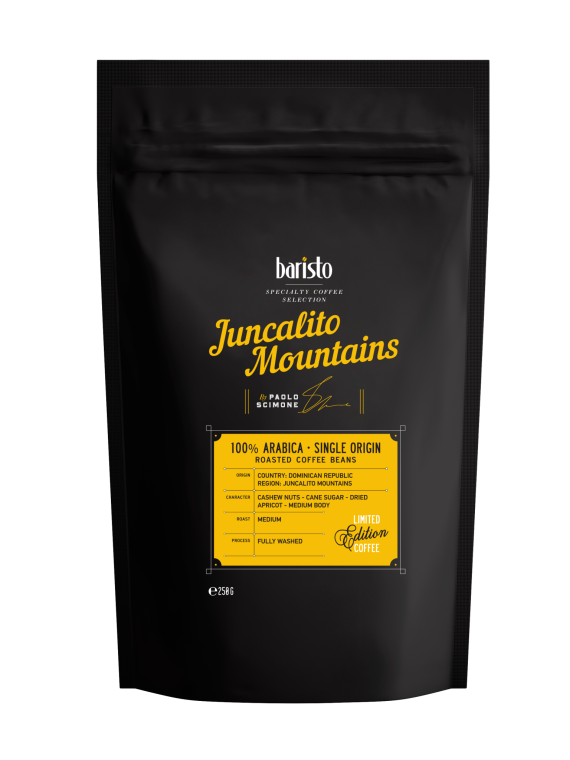 Кафе на зърна Baristo Specialty Coffee Selection – Juncalito Mountains 100% Арабика
