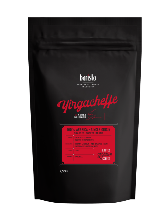 Кафе на зърна Baristo Specialty Coffee Selection Yirgacheffe 100% Арабика