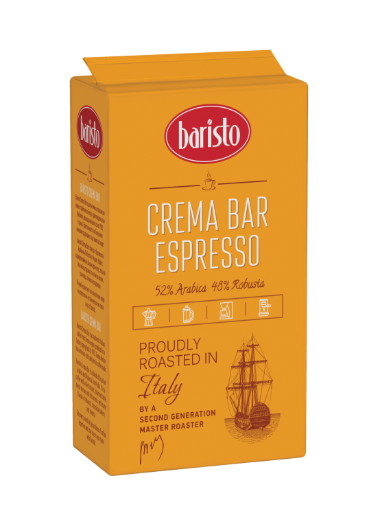 Мляно кафе Baristo Crema Bar Espresso 250 гр.