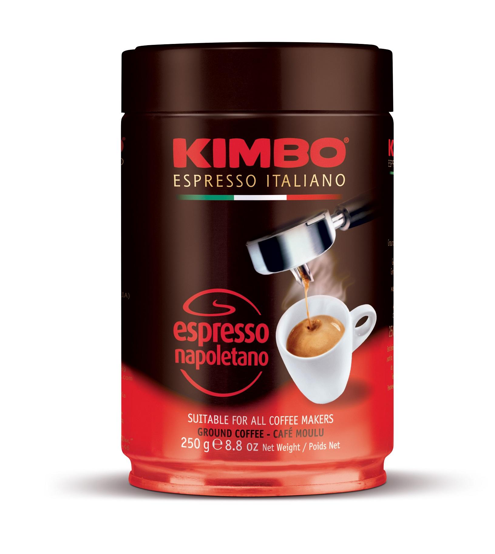 Кафе Kimbo Espresso Napoletano 250 гр. мляно - метална кутия