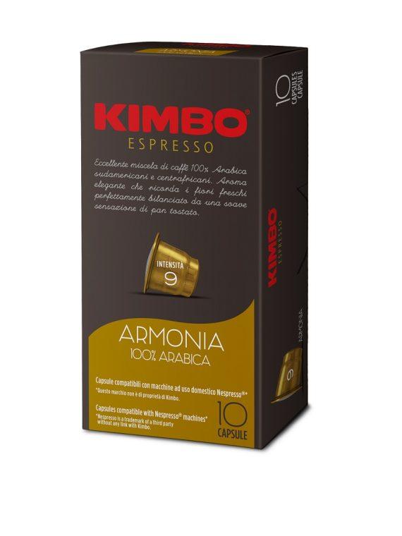 Kimbo Кафе Капсули Armonia 100% Арабика NESPRESSO system 10 бр.