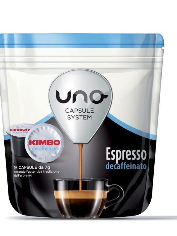 """Kimbo Кафе Капсули """"Uno"""" - Espresso Decaffeinato 16 бр."""