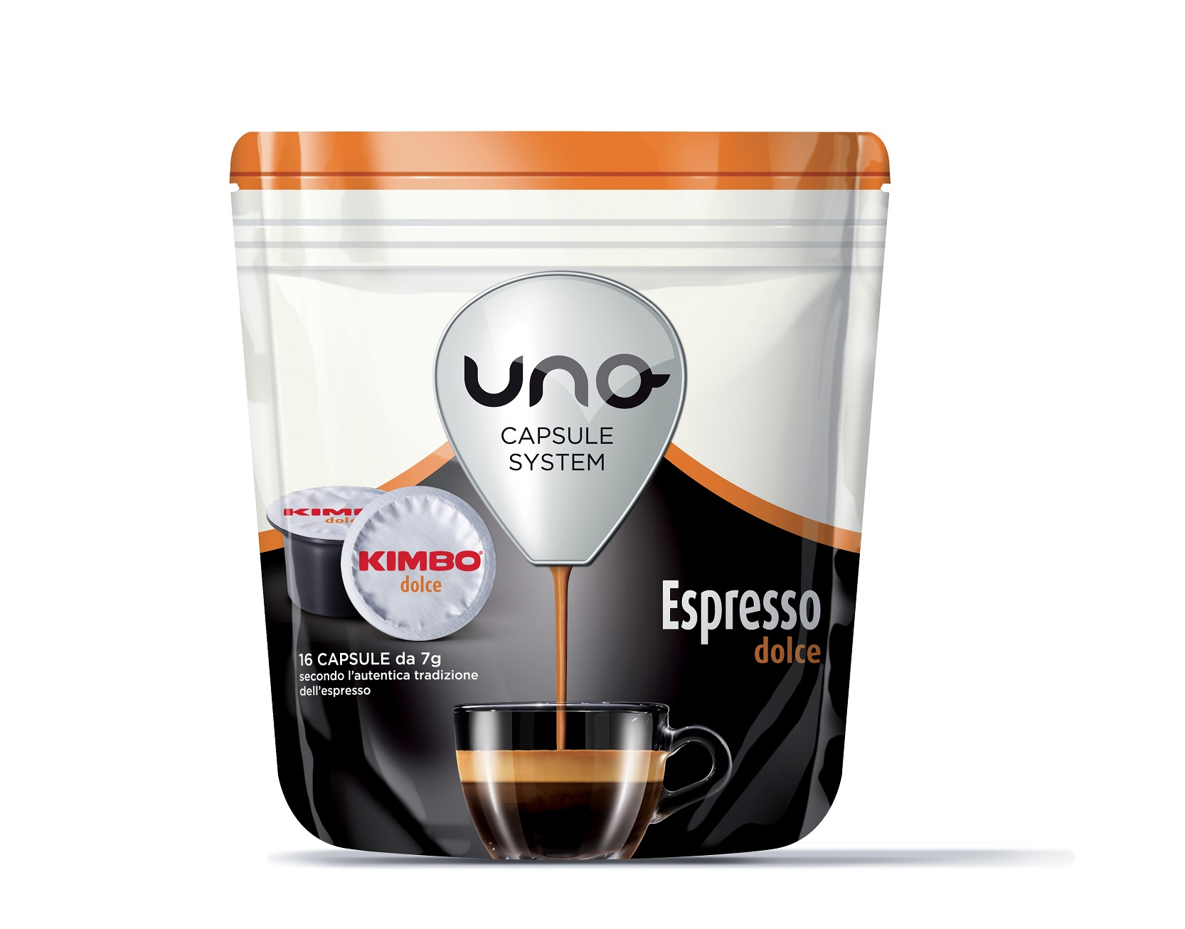 """Kimbo Кафе Капсули """"Uno"""" - Espresso Dolce 16 бр."""