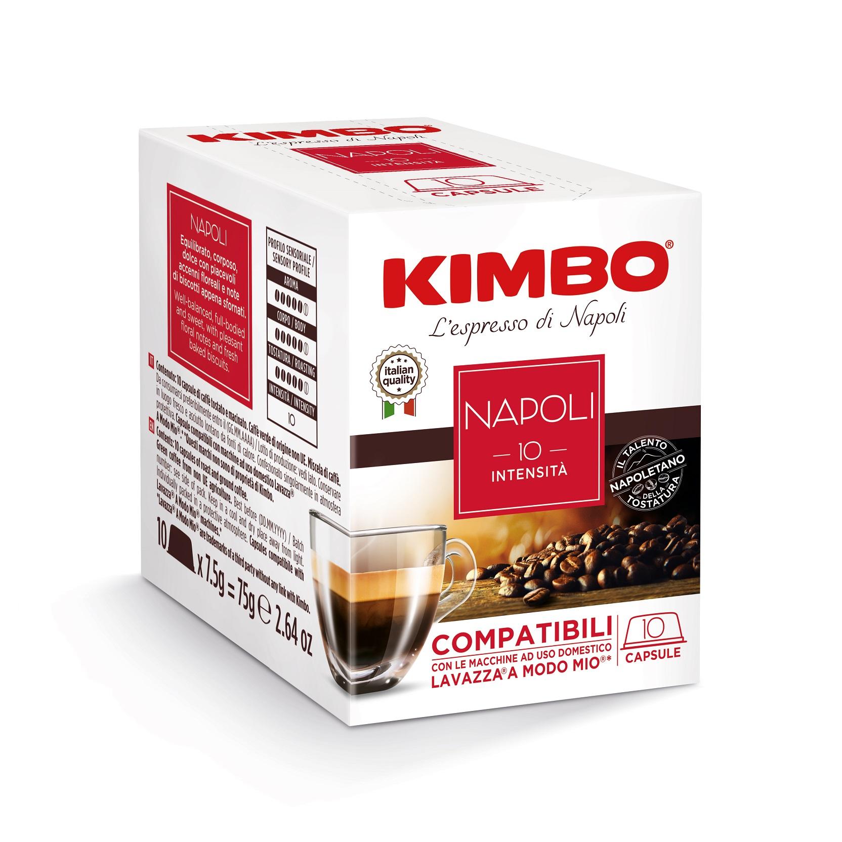 """Kimbo Кафе Капсули """"A Modo Mio"""" Napoli"""